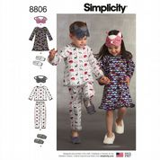 8806 Simplicity Pattern: Child's Nightdress and Pyjamas